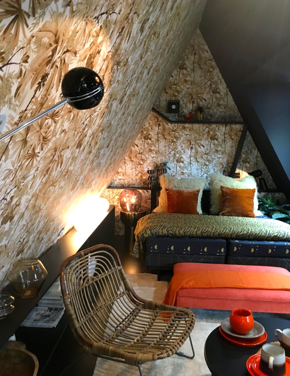 Like toblerone this triangle shaped woodland guest room was a hit