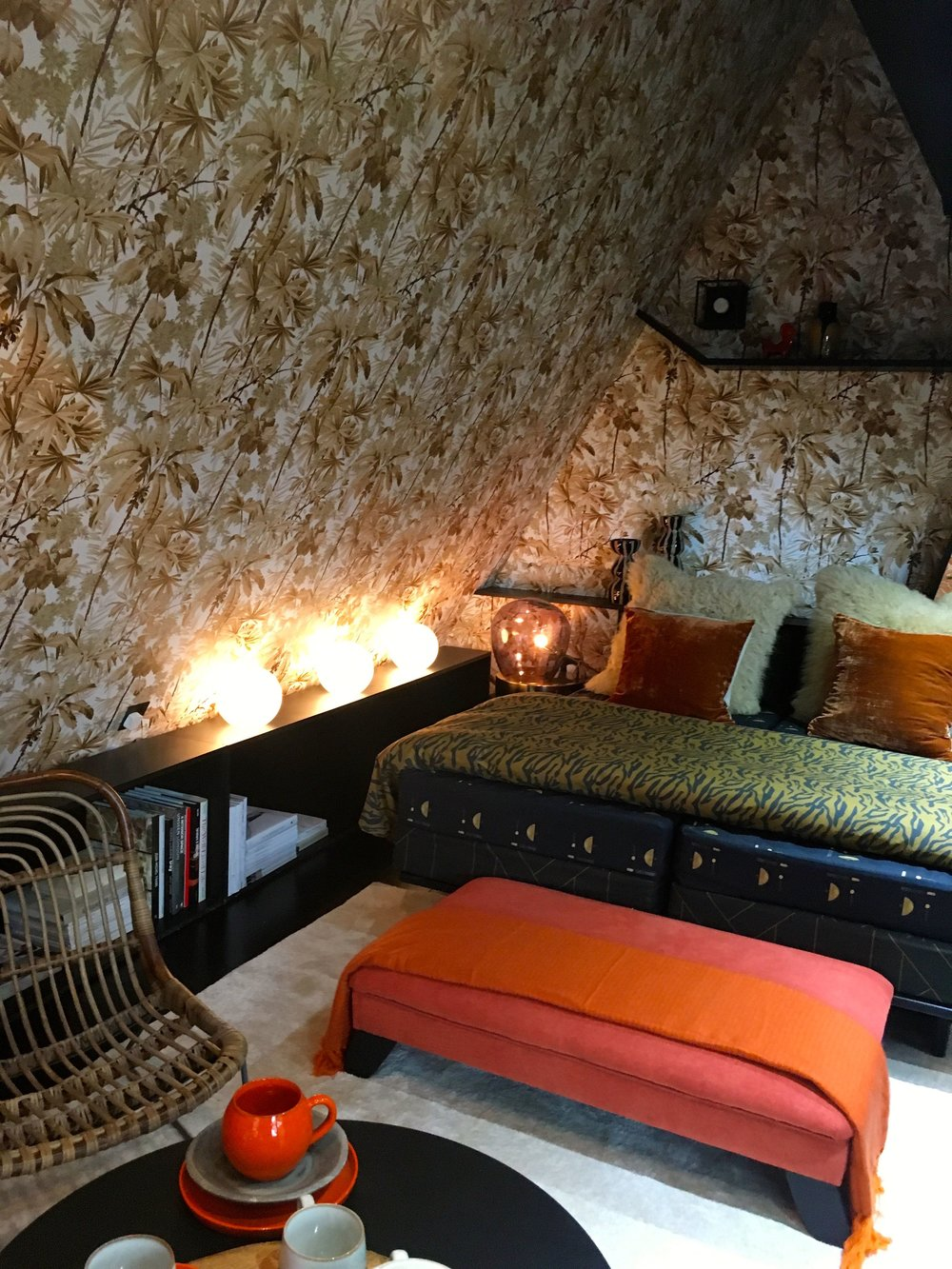 The woodland guest room at the Ideal Home Show