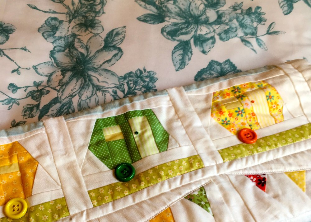 A new jardin duvet set teamed with my caravan quilt