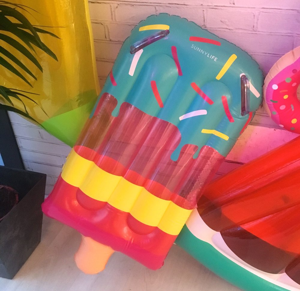 An inflatable like a FAB ice lolly