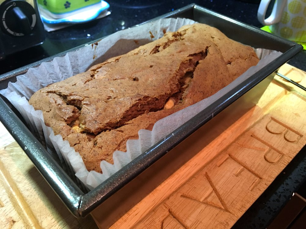 A chocolate banana bread with a hint of chilli chocolate