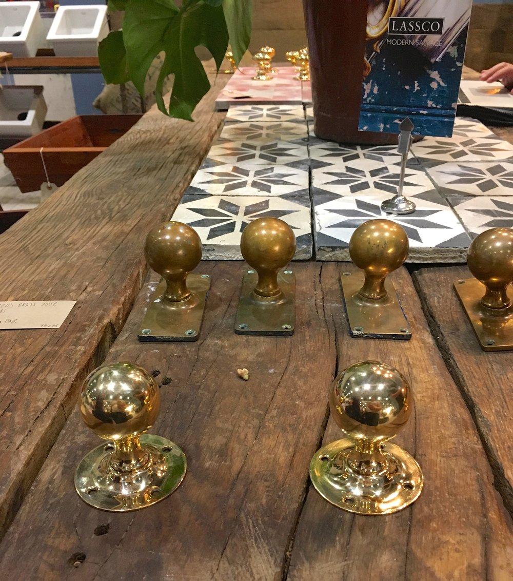 door knobs and tiles