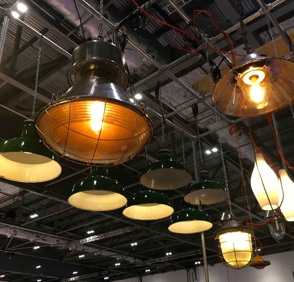 industrial lighting at Grand Designs Live