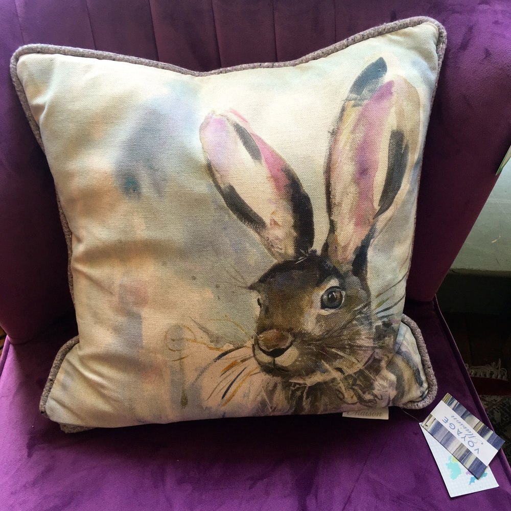 we were tempted by the hare cushion