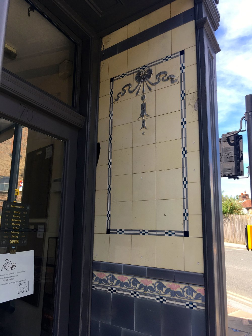 smaller details too - tiles in a shop doorway