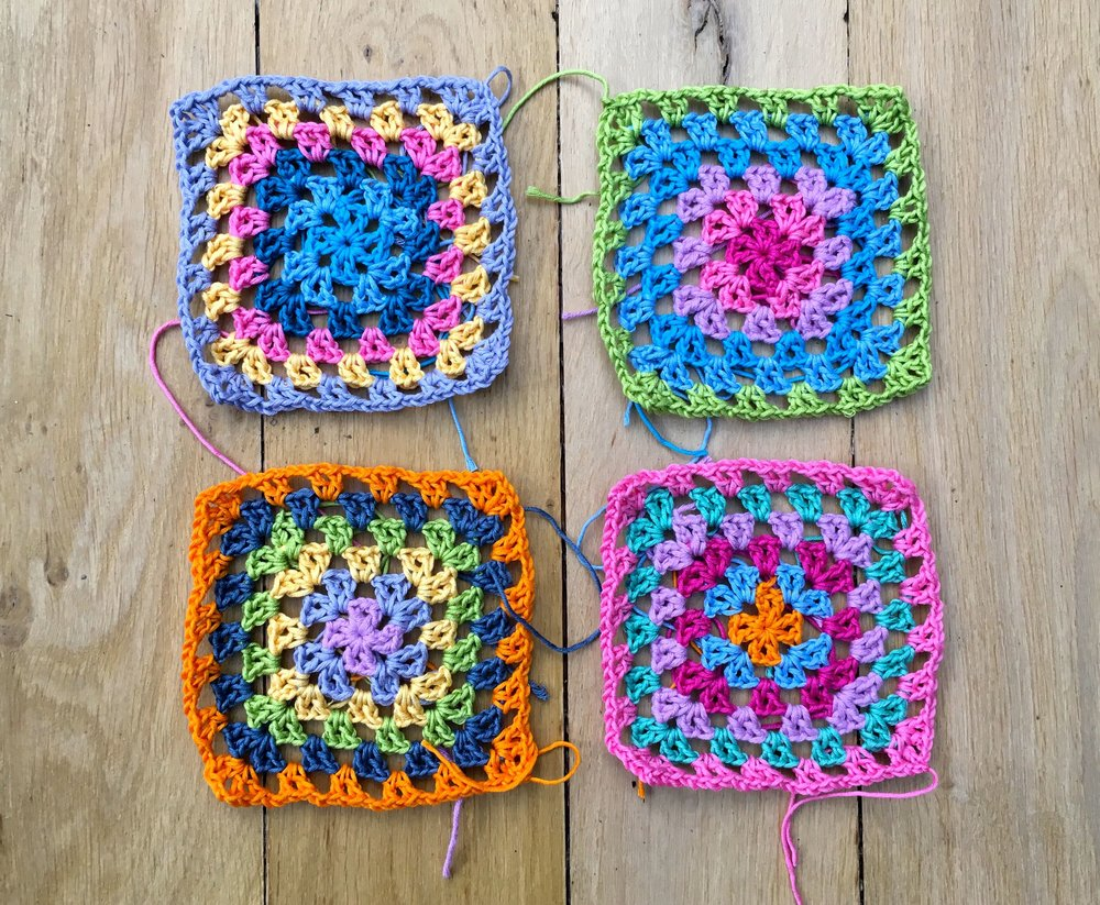 starting with four Granny Jean squares