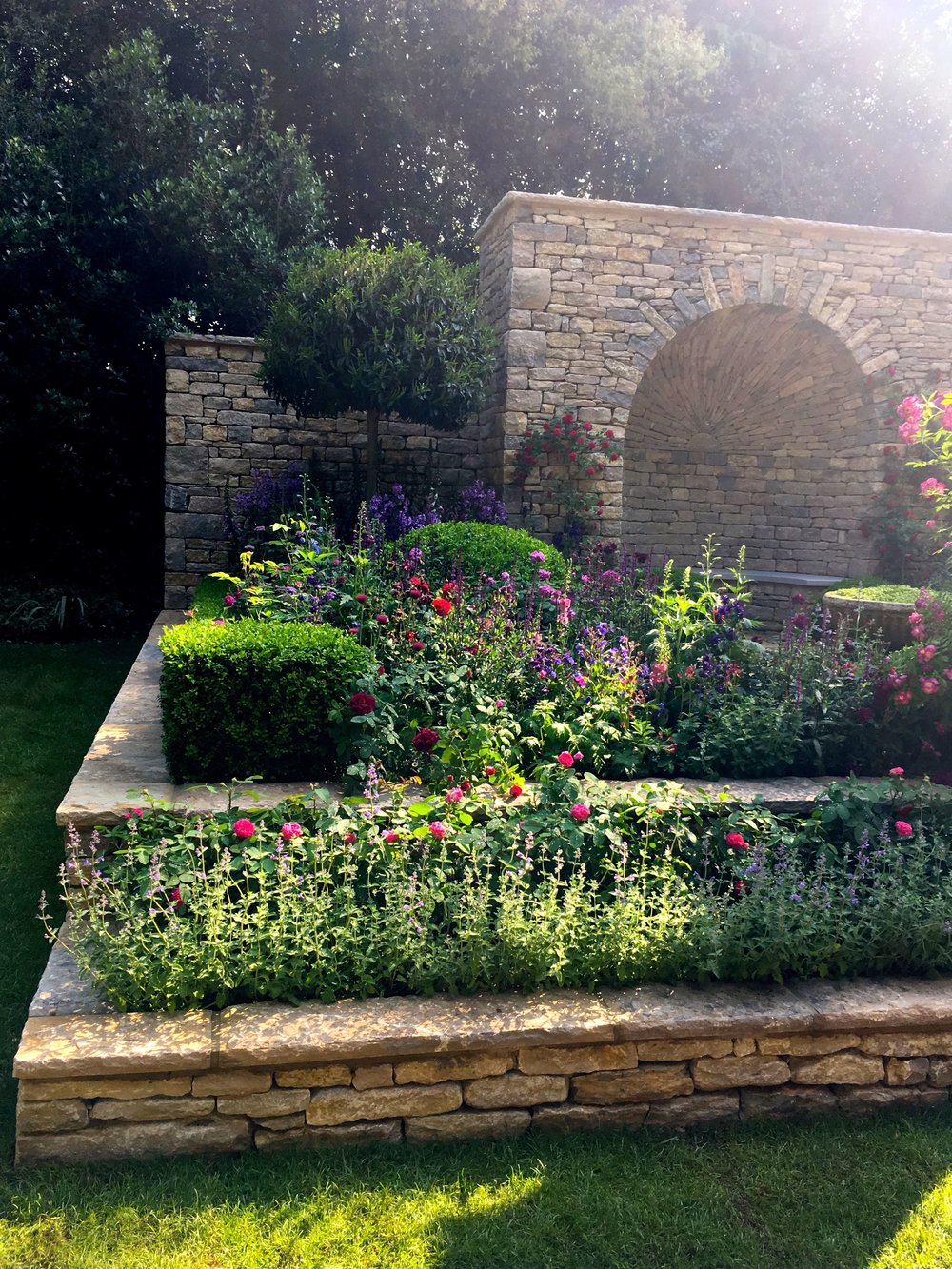 An artisan garden at Chelsea reminiscent of the arts and crafts movement