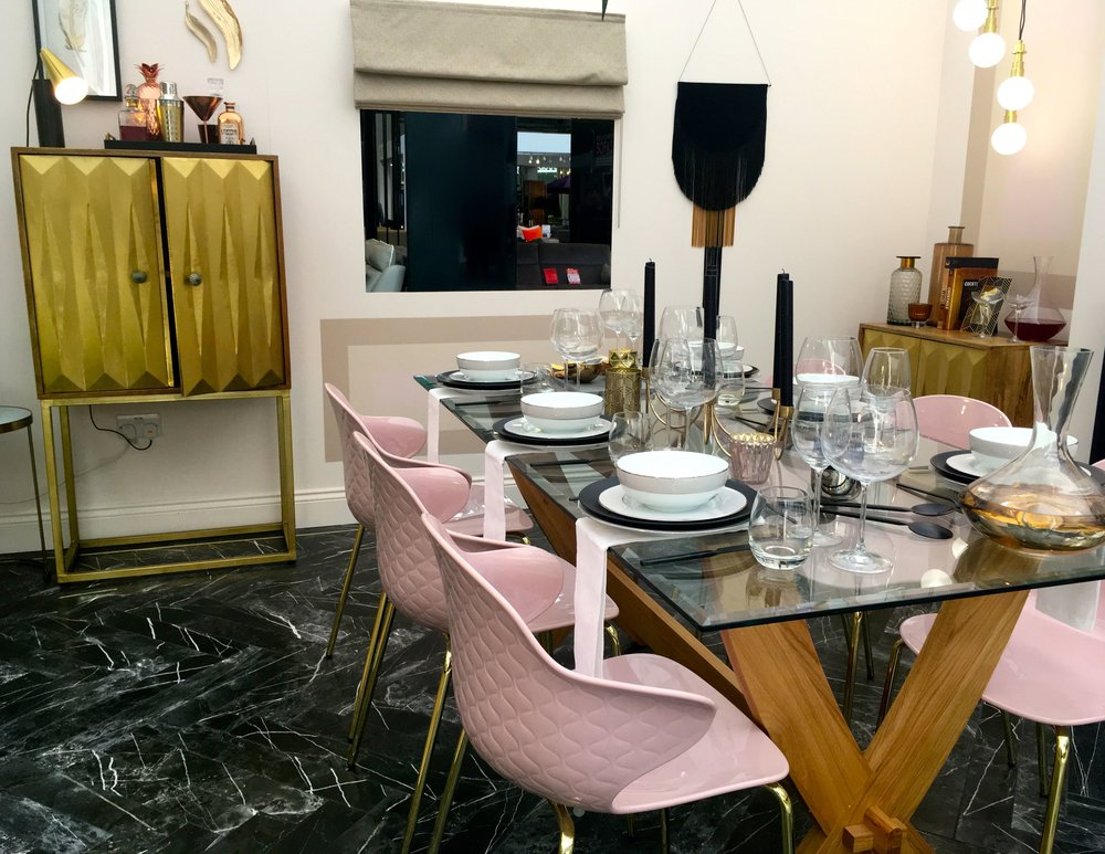 pastels, dramatics and touches of gilt