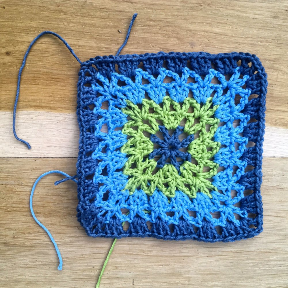 The first of my Granny Beatrice squares for the Vintage Sweetheart blanket