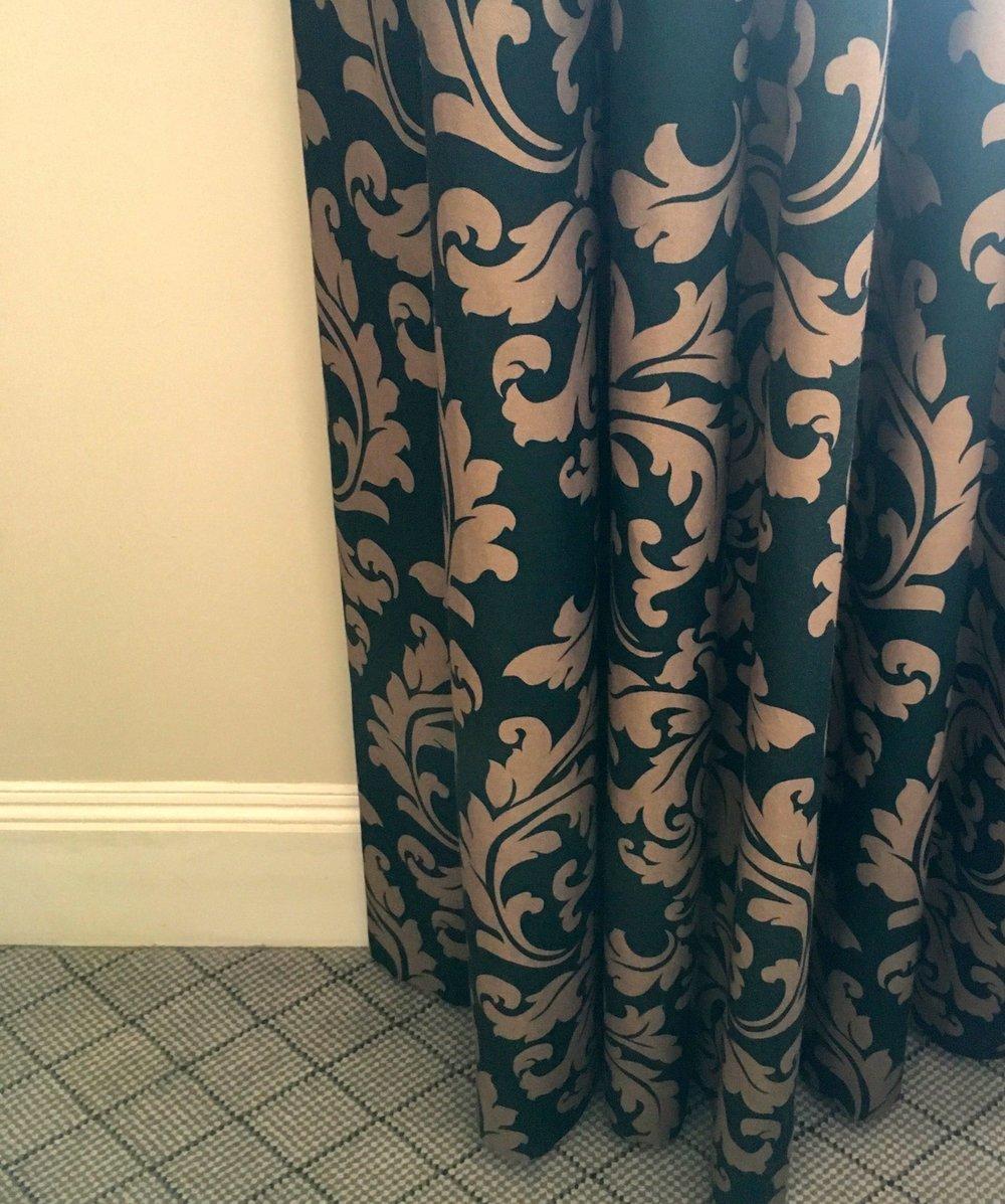Gorgeous floor length curtains