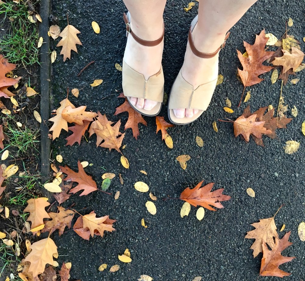 sandals in october, in the UK