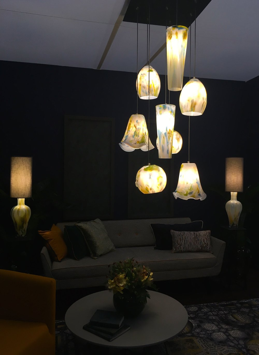 Dimming the lights for effect in the room sets at Grand Designs Live