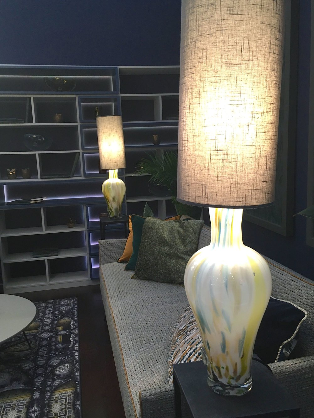 A closer look at the table lamps