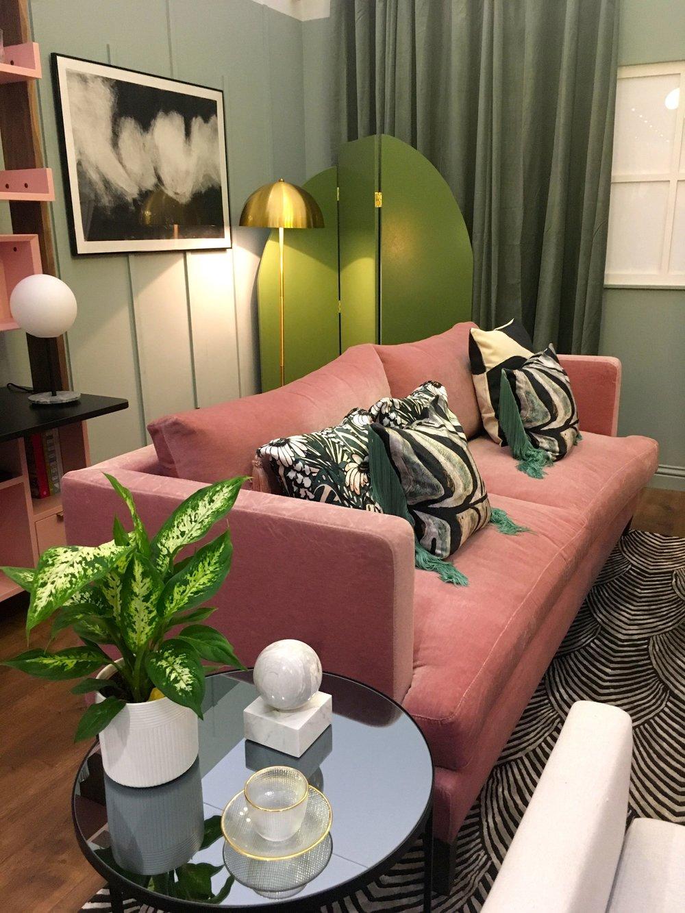 Dusky pink, prints and geometric designs