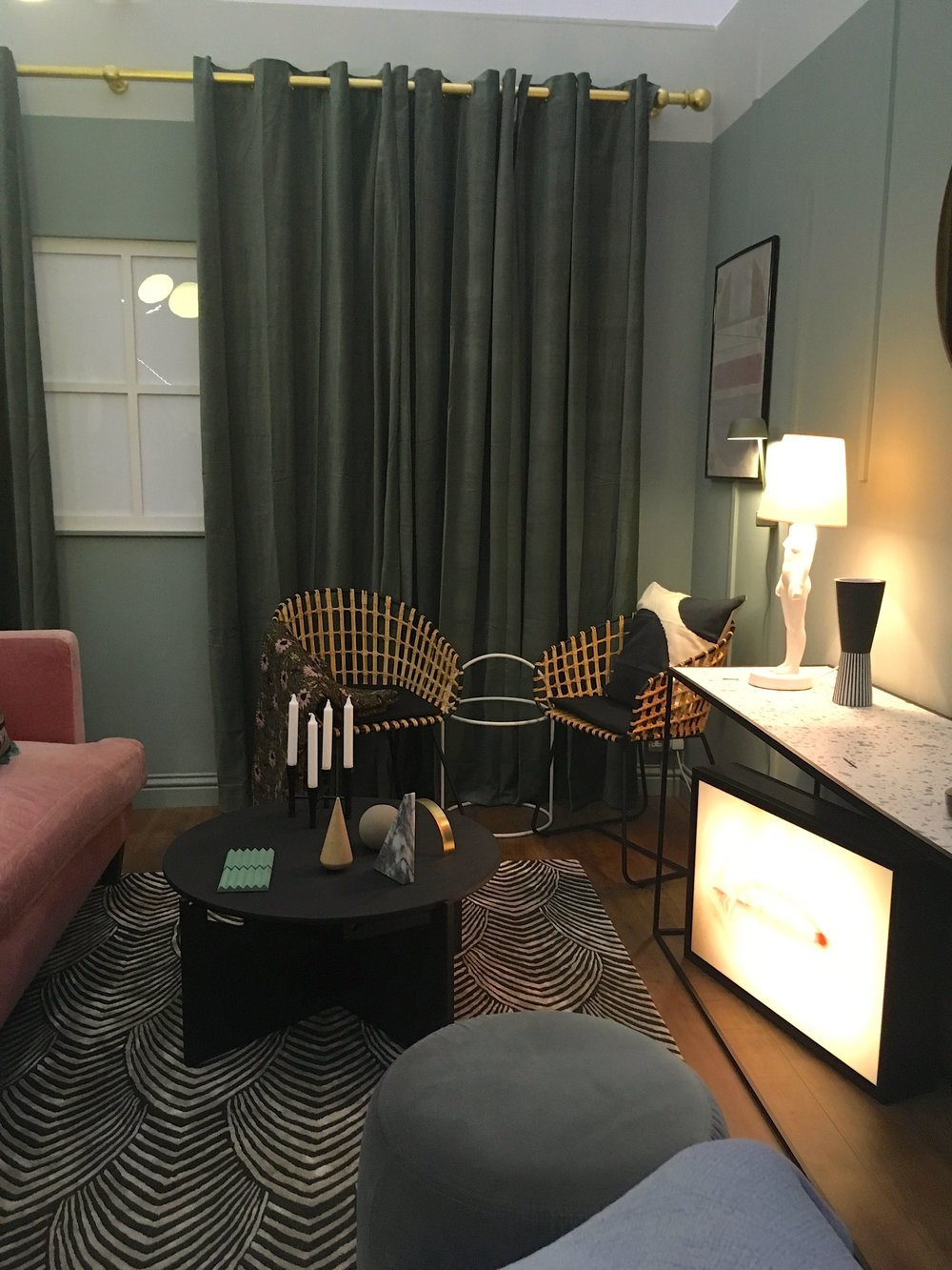 soft furnishings in the lounge at grand designs live
