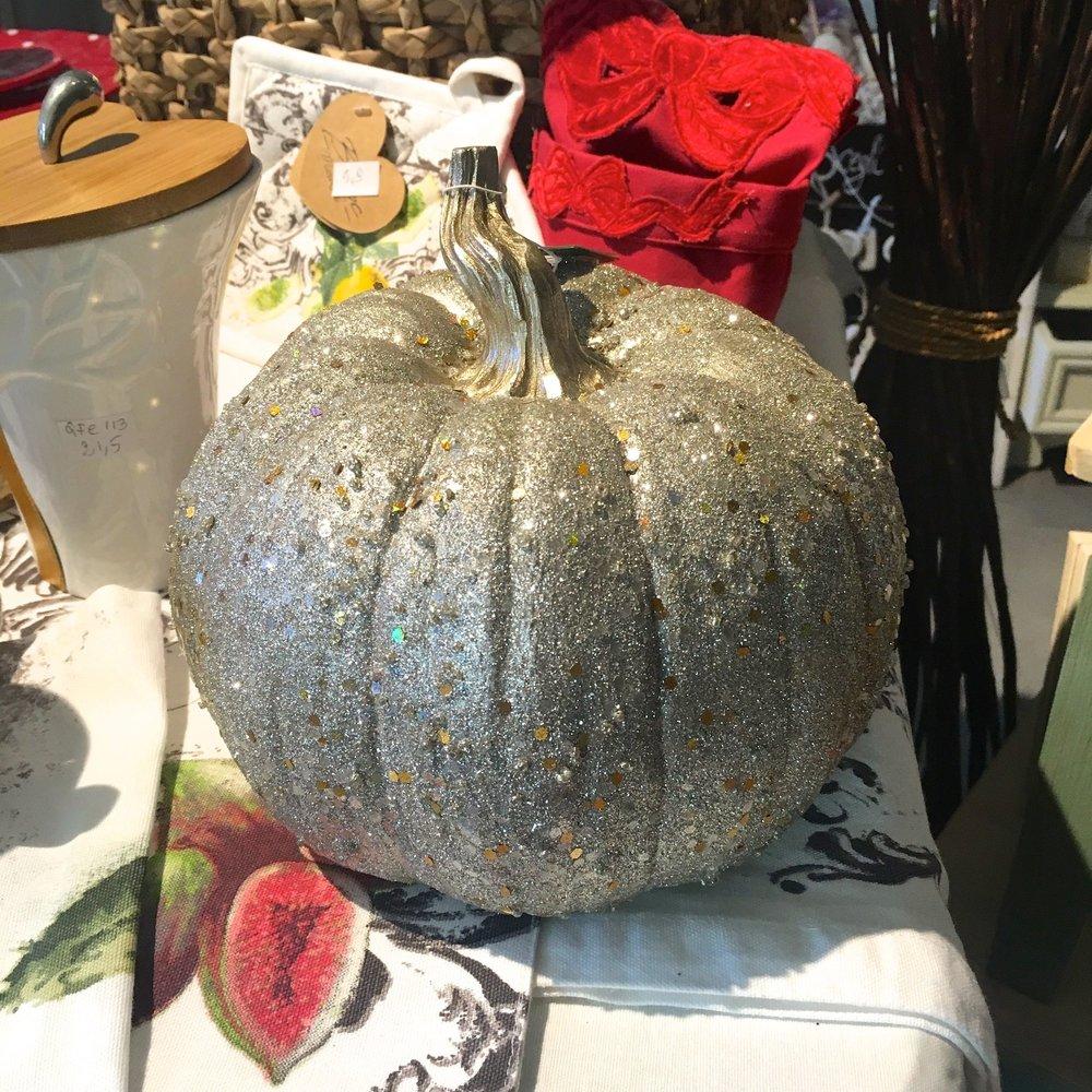 A glittery pumpkin