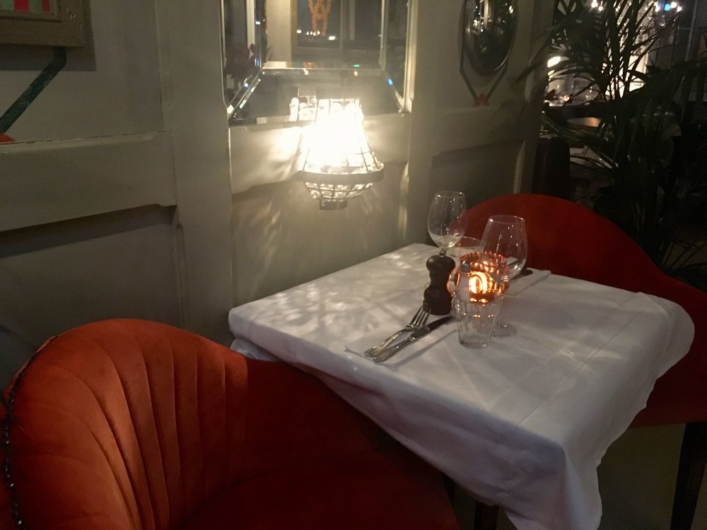 A COSY TABLE FOR TWO