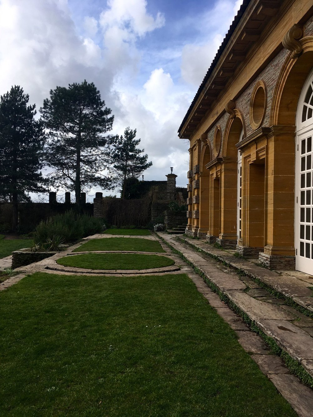 outside the orangery