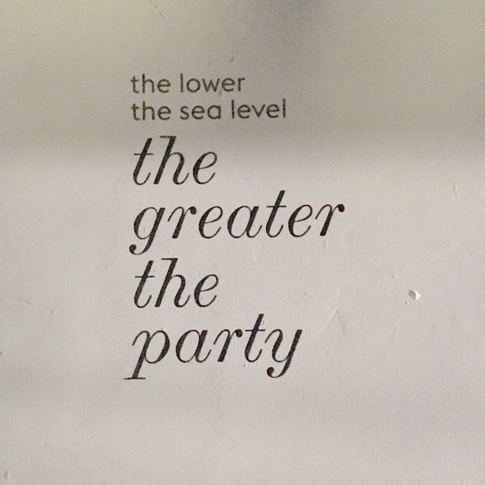 the lower the sea level the greater the party