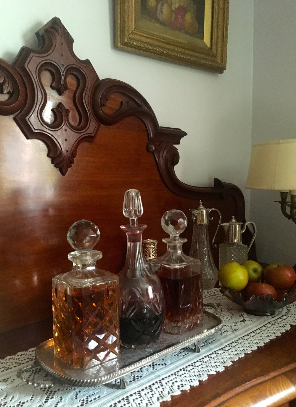 sherry on the sideboard