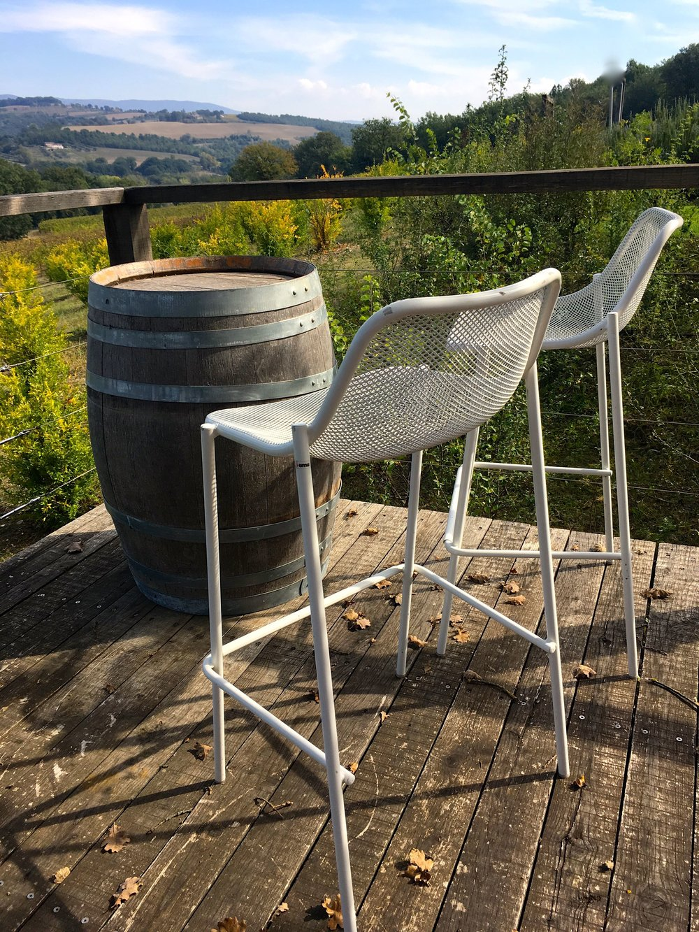 A place to perch and enjoy the Italian Countryside