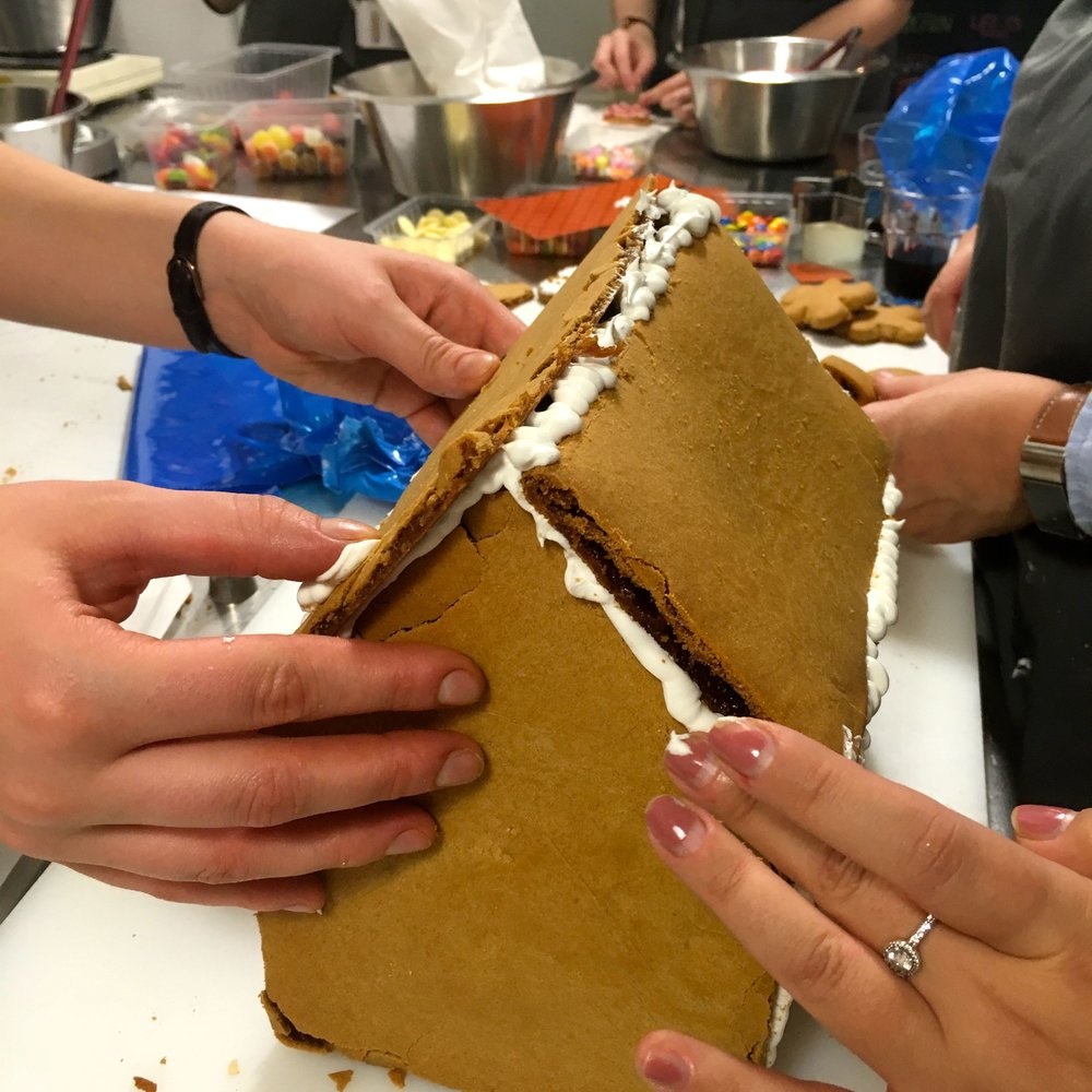 construction part 2 - and many hands make a NEFF gingerbread house