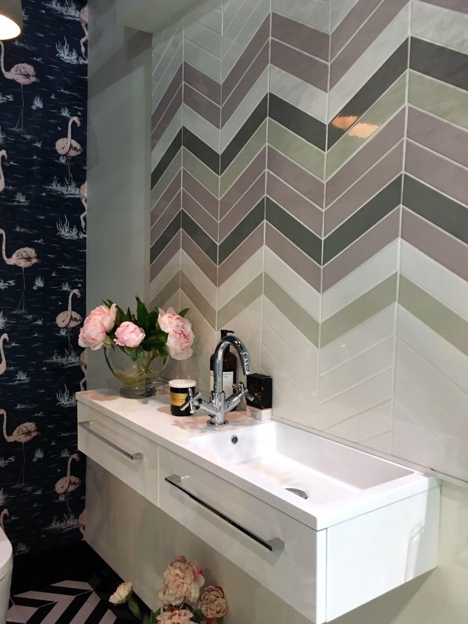 chevron pastel tiles in the grace & grey lavatory project