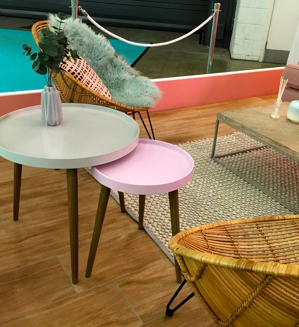 pastel side tables - practical and pretty