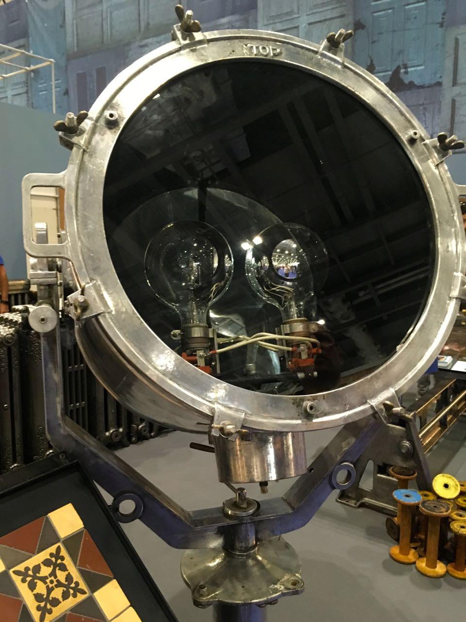 A vintage industrial light