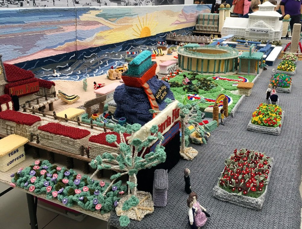 The knitted version of the Golden Mile in Great Yarmouth