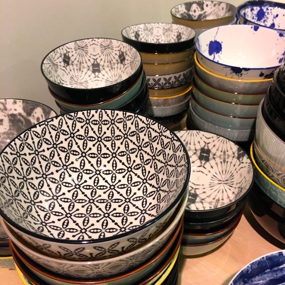 More bowls, more patterns