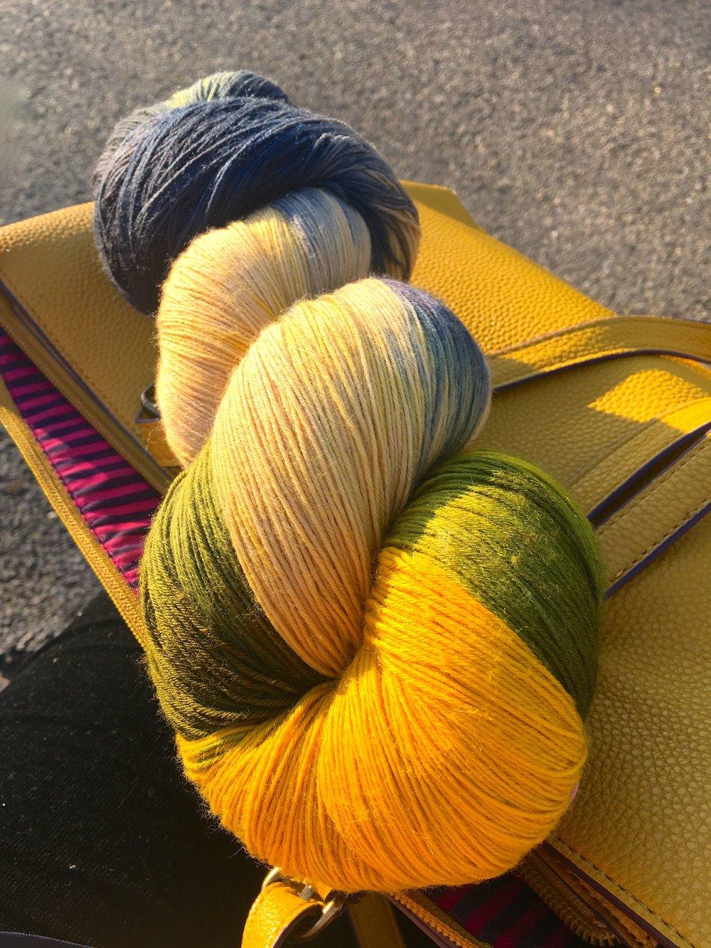 Beautiful wool - the colour is Aspen Tree