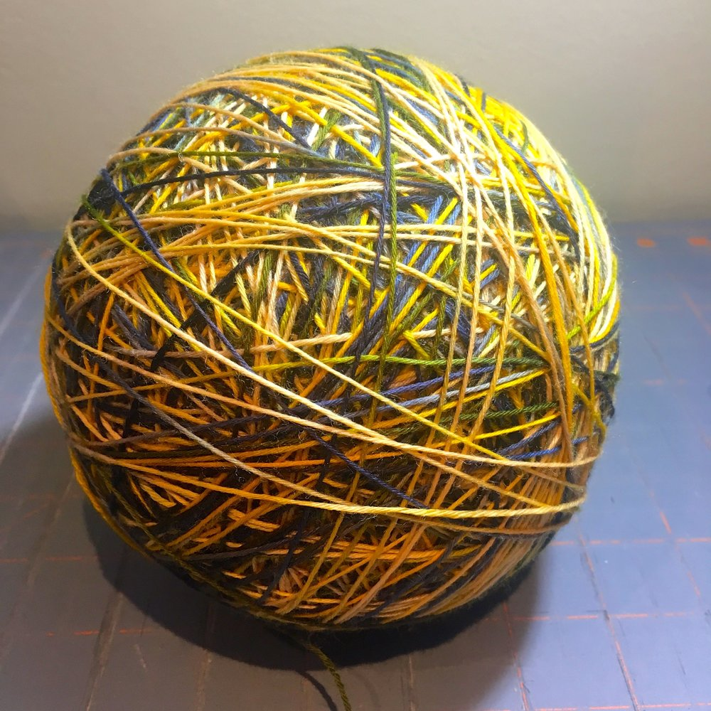 one very large ball of wool