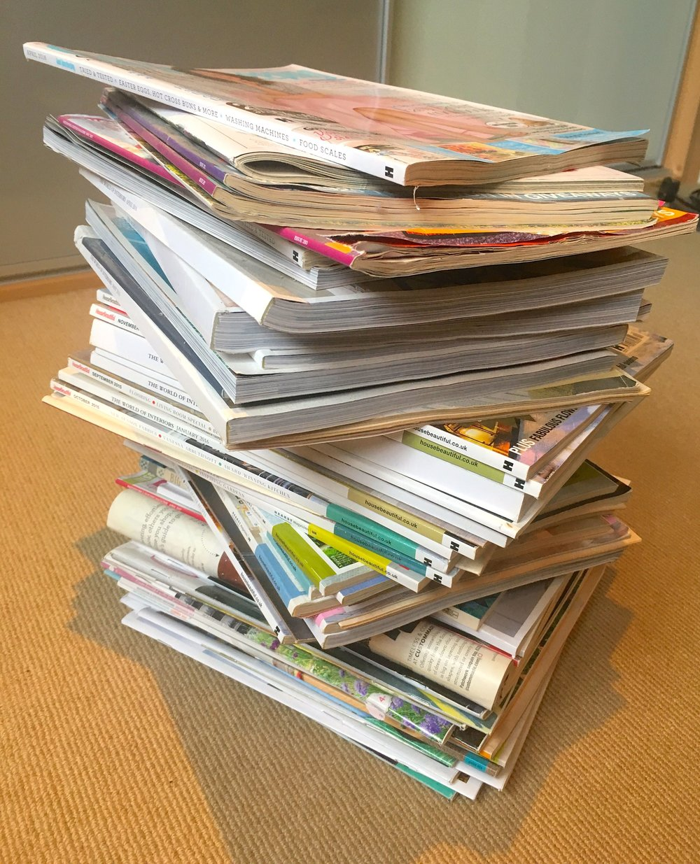 A BIGGER PILE OF MAGAZINES
