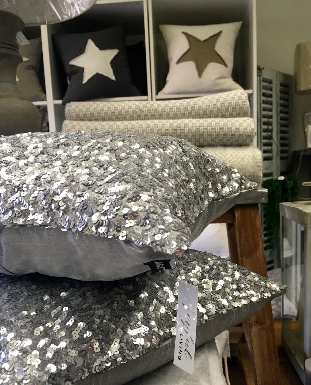 there's always room for a sequinned cushion