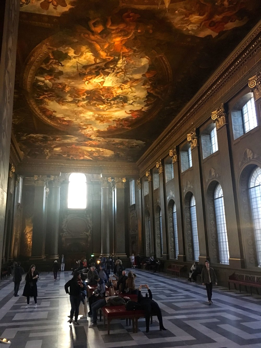 The Painted Hall at the Old Royal Naval College in Greenwich
