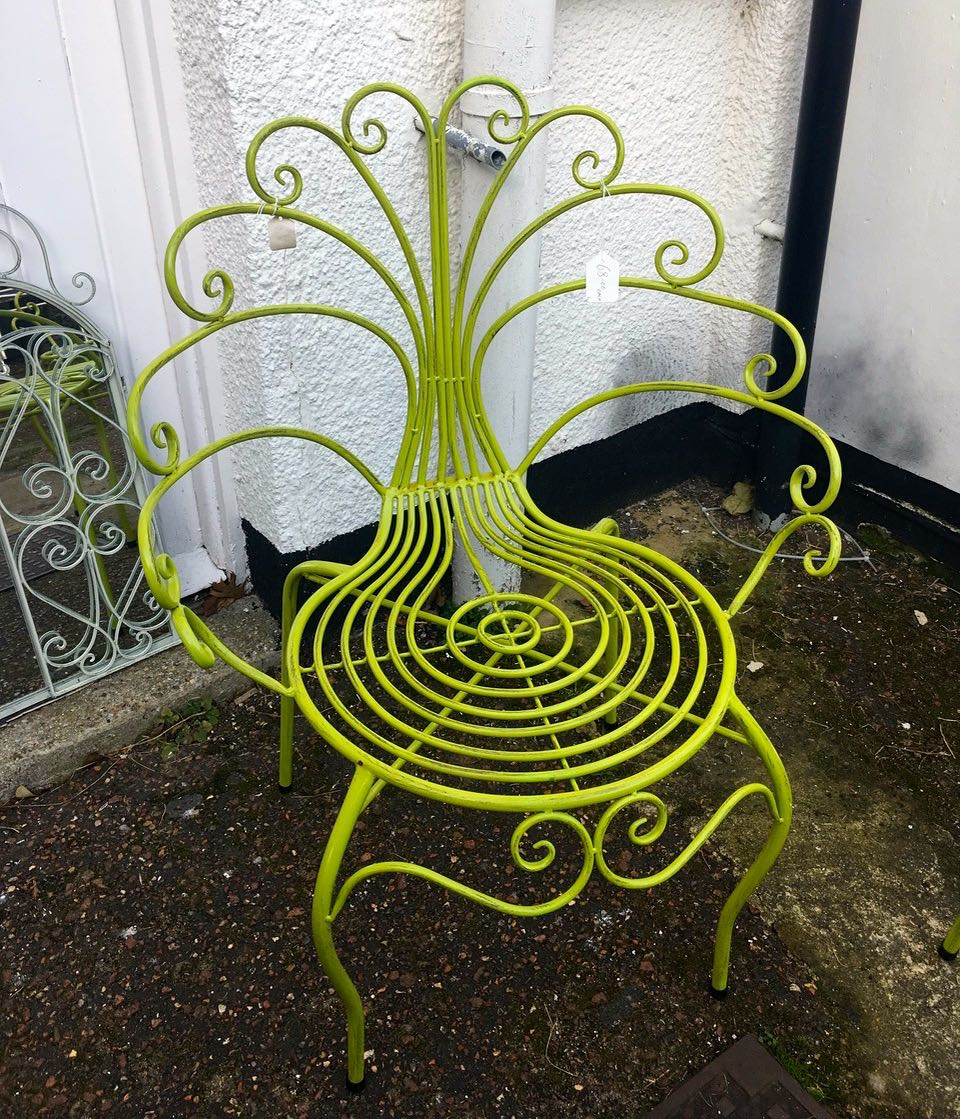 A peacock chair