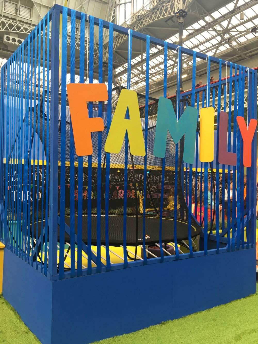 In the family fun garden room set at the ideal home show
