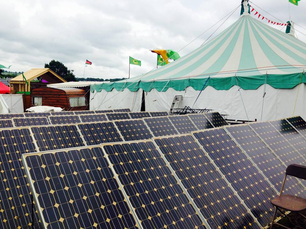 Solar powered stage (Toad Hall)