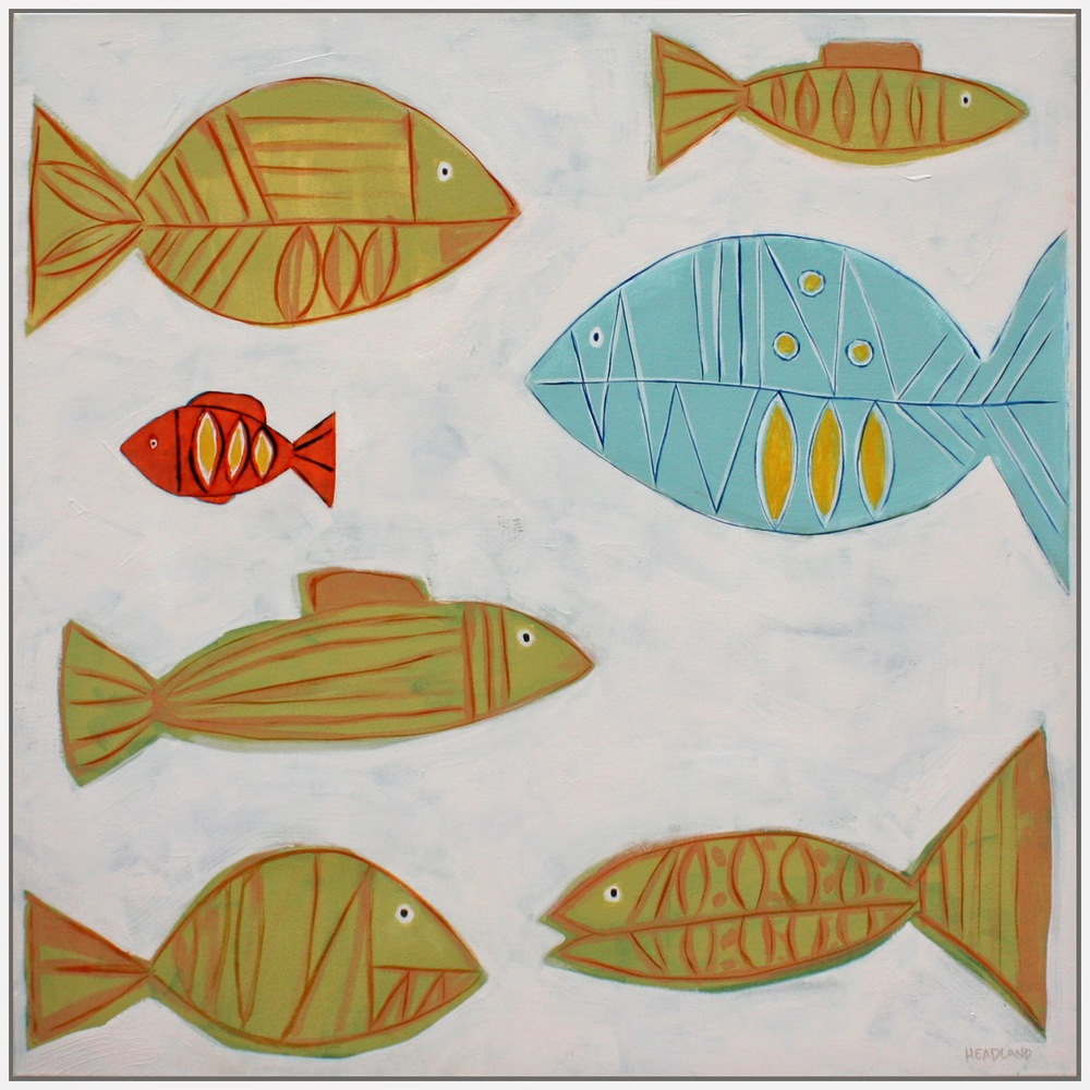 "Rainbow Fish   36"" x 36""  SOLD"