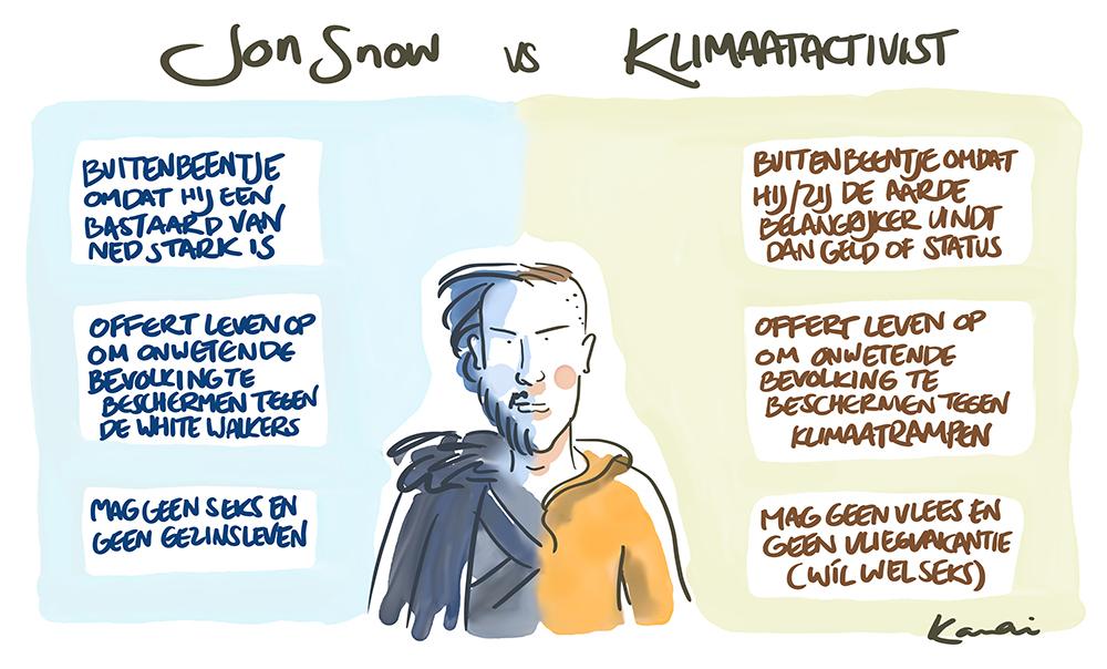 KANAI_JonSnow-vs-klimaatactivist