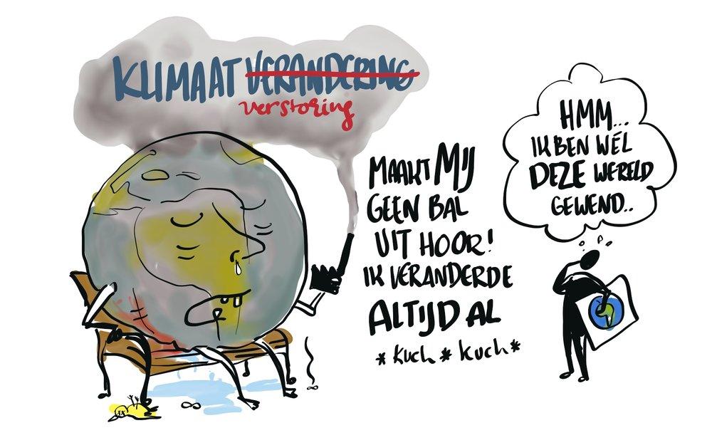 Helga's argument indien in gesprek met klimaatsceptici