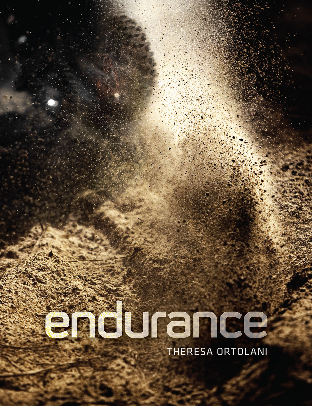 ENDURANCE: Down and Dirty Off-Road Racing , a 160pg powerHouse book by Theresa Ortolani. Designed with Eddie Brannan in the summer of 2009.   The cover and sample spreads of the book display my design of its typographic style and unique spot-coated 'splatter graphics,' alongside select promotional materials.