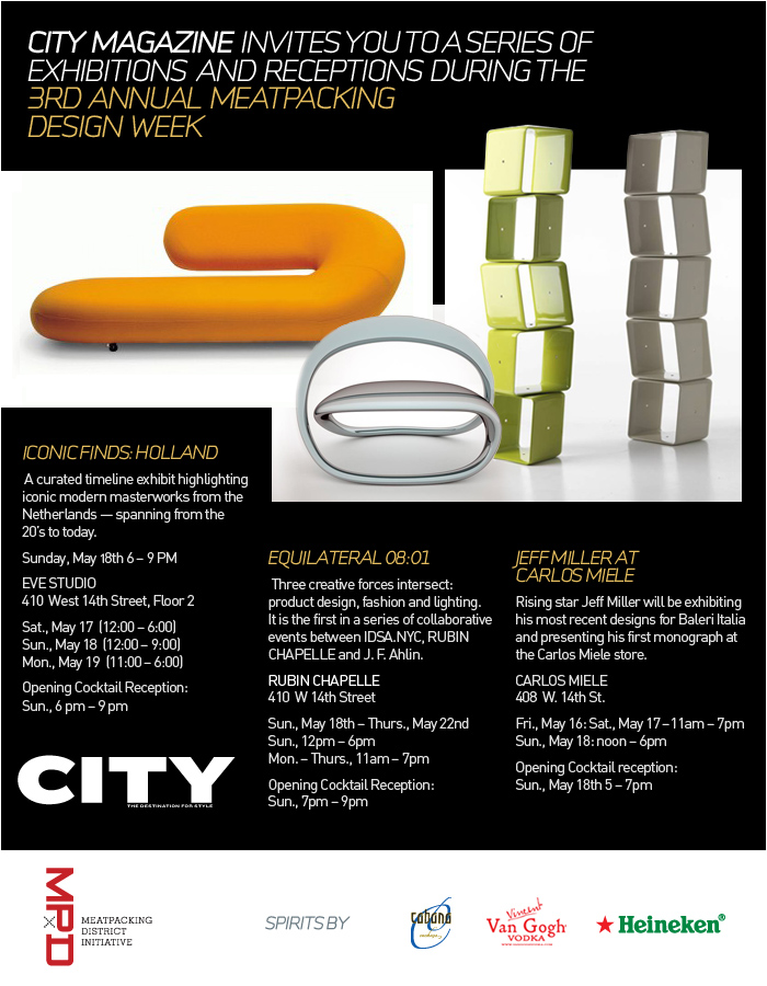 Meatpacking Design Week event invitation. 2008.
