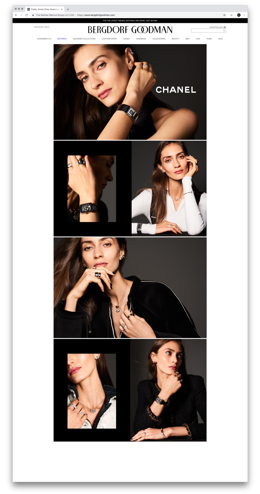Chanel Fine Jewelry Digital Lookbook. On-set Co-Art Direction and Design. Photographer Jai Odell.