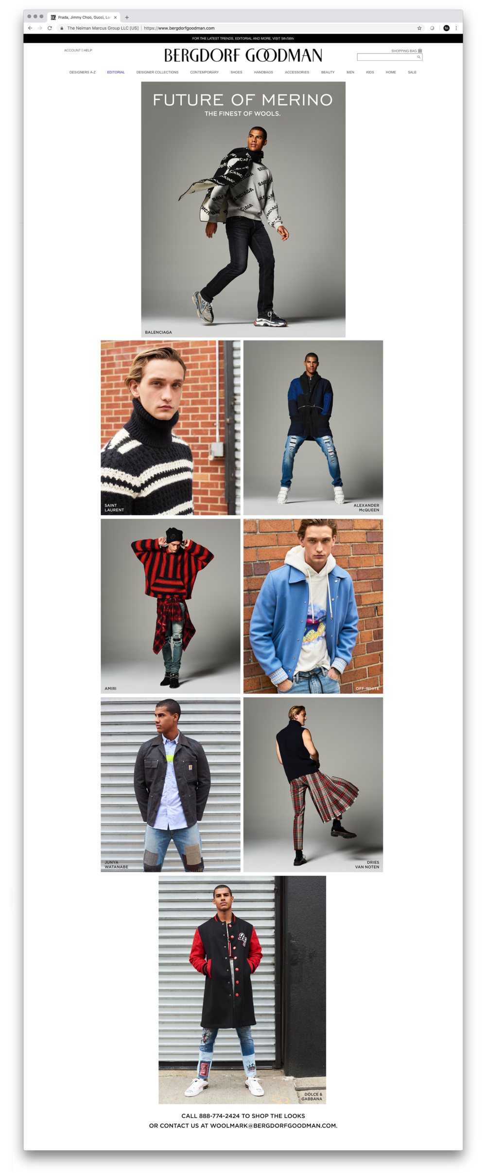 Woolmark Digital Lookbook. On-set Co-Art Direction. Photographer Jai Odell, Stylist Bruce Pask.