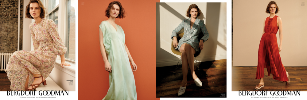 5F campaign advertisement for  New York 's Spring Fashion Issue. 4pg insert. Design and On-Set Art Direction. Consulting Creative Director Ashley Sargent Price, Photographer Alexandra Nataf, Fashion Stylist Deborah Watson.