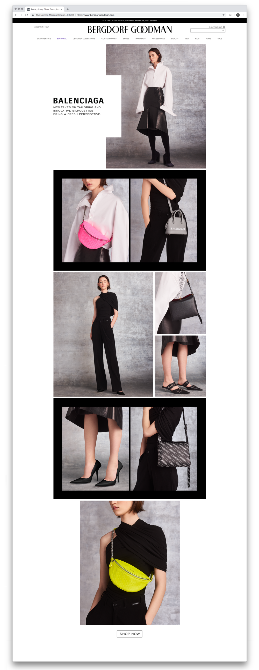 Balenciaga Spring '19 Collection Digital Lookbook. Design and On-Set Art Direction. Photographer Jai Odell, Fashion Stylist Nancy Goold.