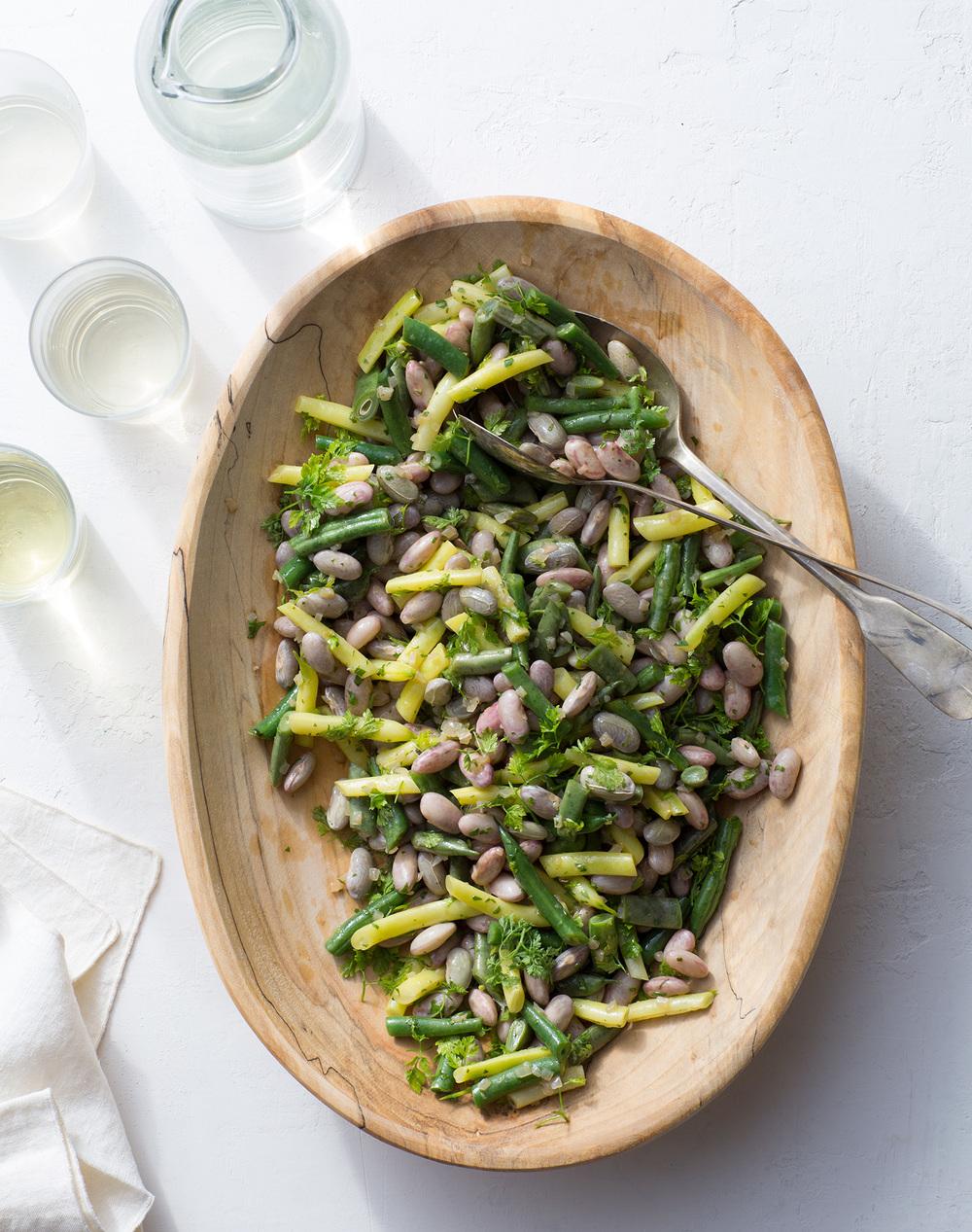 garden bean salad with chervil