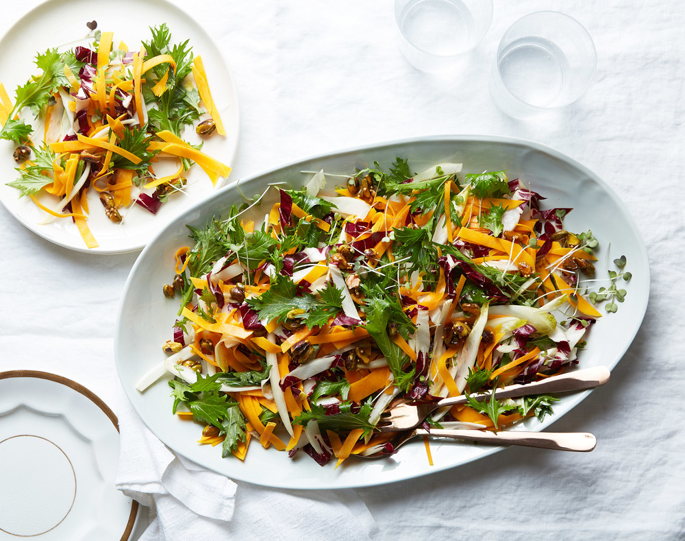 raw butternut salad with endive